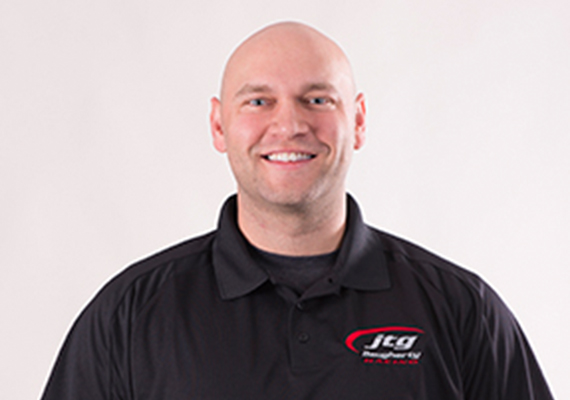 Pit Crew Position: 37 Rear Tire carrier<br /> Birth Date: June 19, 1983<br /> Hometown: : Merrill, Wisconsin <br /> Favorite Sport Outside of NASCAR: NFL – Green Bay Packers<br />  Hobbies: : Sport shooting, playing guitar  Type 1 diabetic since age 3. Health is an important part of my life. Looking forward to this season! This is my twelfth year as a tire carrier. My first win was in the ARCA Series at New Jersey. The toughest part of my job for me is if the driver puts the car in gear, which makes the hub spin, or if the driver doesn't hold the brake.
